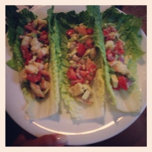 Shrimp Lettuce Wraps from Boston In Heels